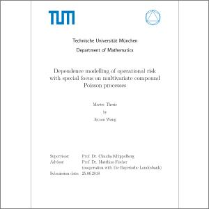 Dependence modelling of operational risk with special focus on