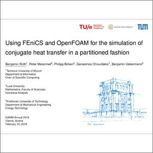 Using FEniCS and OpenFOAM for the simulation of conjugate heat